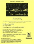 The Laramie Project Poster by University of Southern Maine Department of Theatre