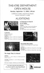 Theatre Department Open House Flyer by University of Southern Maine Department of Theatre