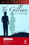 To Gillian on her 37th Birthday Poster [2008] by University of Southern Maine Department of Theatre