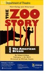The Zoo Story and The American Dream Poster