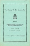 Rebecca: A Three Act Play