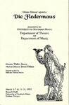 Die Fledermaus Program [1993] by University of Southern Maine Department of Theatre