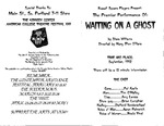 Waiting on a Ghost Program [1992] by University of Southern Maine Department of Theatre