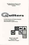 Quilters Program [1994] by University of Southern Maine Department of Theatre