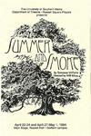 Summer and Smoke Program [1994] by University of Southern Maine Department of Theatre