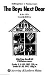 The Boys Next Door Program by University of Southern Maine Department of Theatre