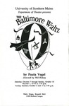 The Baltimore Waltz Program by University of Southern Maine Department of Theatre