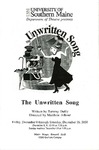 The Unwritten Song Program by University of Southern Maine Department of Theatre