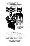 We Won't Pay, We Won't Pay Program by University of Southern Maine Department of Theatre