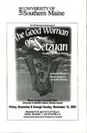 The Good Woman of Setzuan Program [2001] by University of Southern Maine Department of Theatre