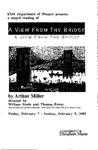 A View from the Bridge Program [2003] by University of Southern Maine Department of Theatre