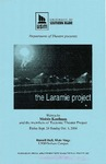 The Laramie Project Program by University of Southern Maine Department of Theatre