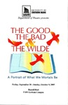 The Good, The Bad, & The Wilde Program by University of Southern Maine Department of Theatre