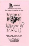 Student-Written One Act Plays: Human at Heart & Heavenly Match by University of Southern Maine Department of Theatre