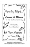 Carmen the Mopera Program by University of Southern Maine Department of Theatre