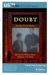Doubt Program [2014] by University of Southern Maine Department of Theatre