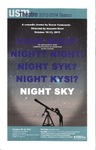 Night Sky Program [2013] by University of Southern Maine Department of Theatre