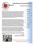 Women & Gender Studies Fall 2013 Newsletter by Women & Gender Studies Program, University of Southern Maine