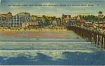Old Orchard Beach, Maine Postcard by Leona Dutil