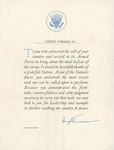 Letter of Gratitude from President Harry S. Truman by The White House