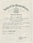 Wilfrid S. Mailhot, Jr. Honorable Discharge Certificate