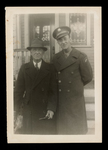 Wilfrid S. Mailhot Jr. in Uniform with Father Photograph