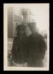 Wilfrid S. Mailhot Jr. and Woman in Uniform Photograph