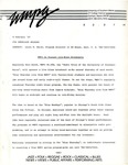 Blues Broadcast Press Release, 02/08/1987 by 90.9 WMPG FM