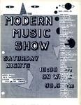Modern Music Show Flyer by 90.9 WMPG FM
